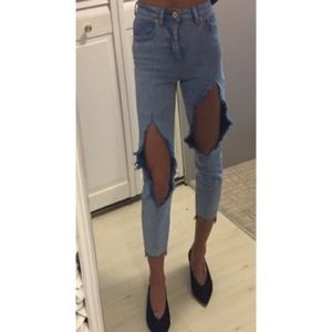 ASOS Jeans - NWT super distressed cropped Mom jeans
